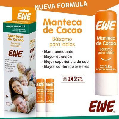 Ewe-Manteca-De-Cacao-Balsamo-Para-Labios-24-Unidades-en-FarmaPlus