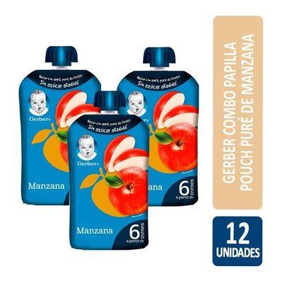Gerber-Combo-Papilla-Pouch-Pure-De-Manzana-X12un-De-95gr-en-FarmaPlus