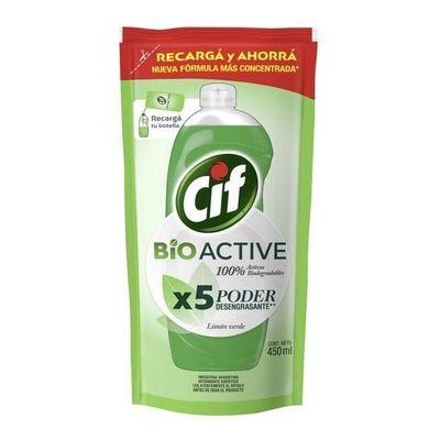 Cif-Detergente-Bio-Active-Doy-Pack-Limon-Verde-450ml-en-FarmaPlus