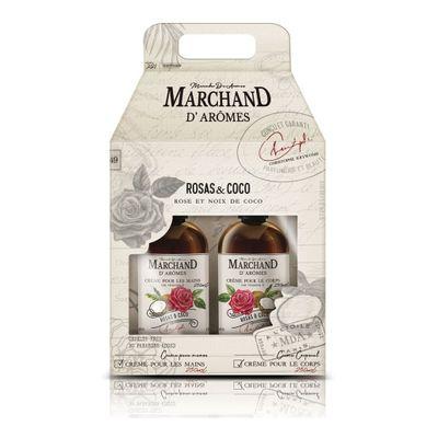 Marchand-Estuche-Rosas-coco-Crema-Manos---Crema-Corporal-en-FarmaPlus