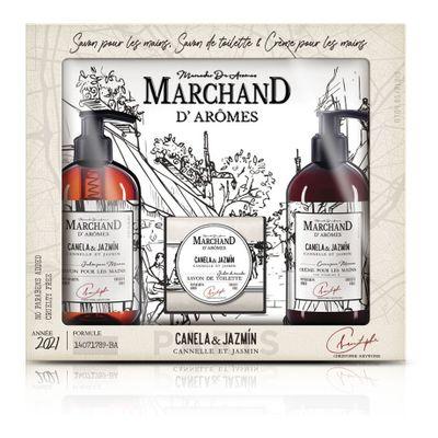 Marchand-Estuche-Trio-Canela-jazmin-Crema-De-Manos---Jabon--en-FarmaPlus