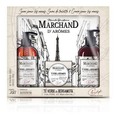 Marchand-Estuche-Trio-Verde-bergamot-Crema-De-Manos---Jabon--en-FarmaPlus